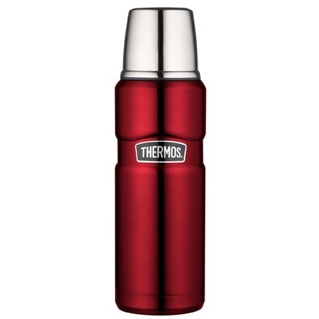 Thermos Isolierflasche King, 0,47 L, edelstahl rot