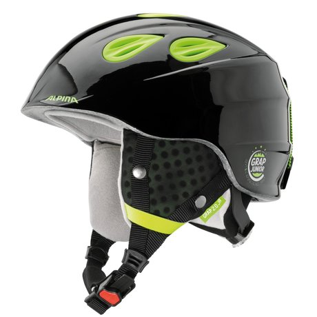 ALPINA Skihelm GRAP 2.0 Junior black-neon-yellow 54-57