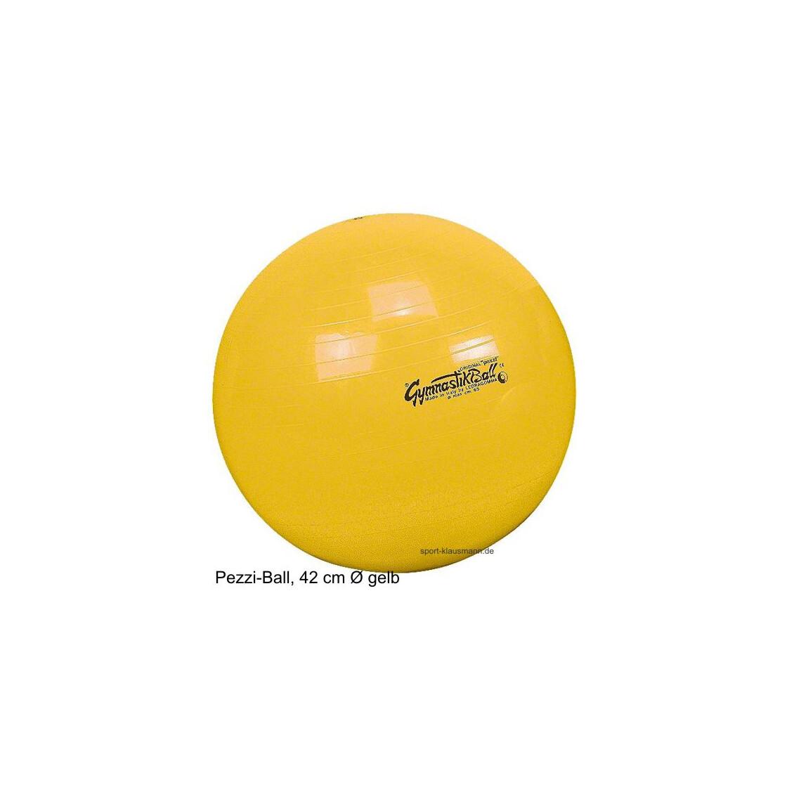 pezzi gymnastikball sitzball 42 cm gelb outdoor ausr stung ruc. Black Bedroom Furniture Sets. Home Design Ideas