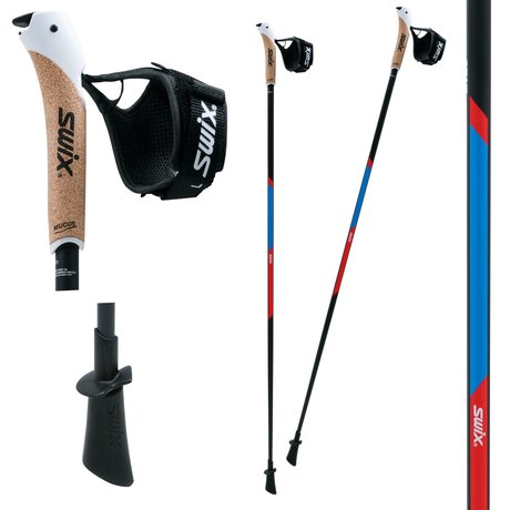 SWIX NW CT1 Red Blue Racing Nordic Walking Stöcke 115 cm
