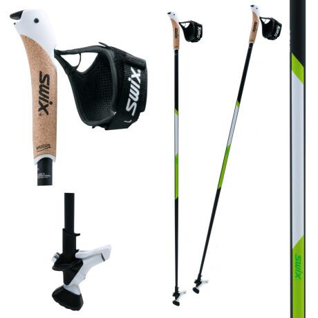 Swix CT4 Nordic Walking Stock Lime Composite Premium mit Twist /& Go Spitze 1 Paar