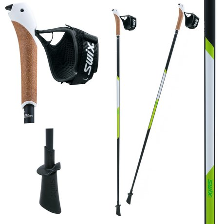 SWIX NW CT4 Lime Just Go Sport, Nordic Walking 120 cm