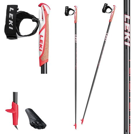 LEKI Flash Carbon Nordic Walking Stöcke anthracite