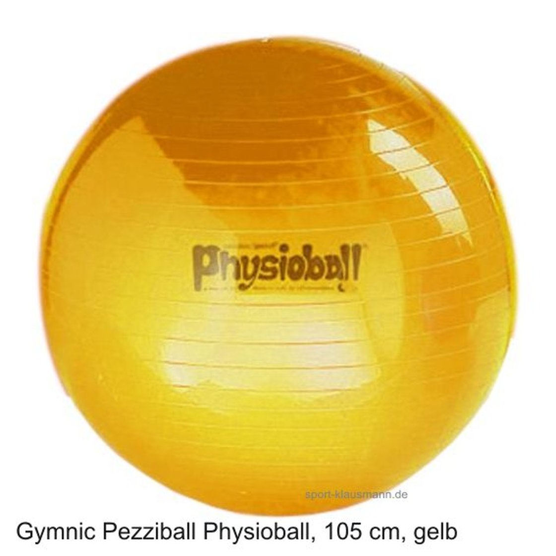 pezzi gymnastikball physioball sitzball 105 cm gelb. Black Bedroom Furniture Sets. Home Design Ideas