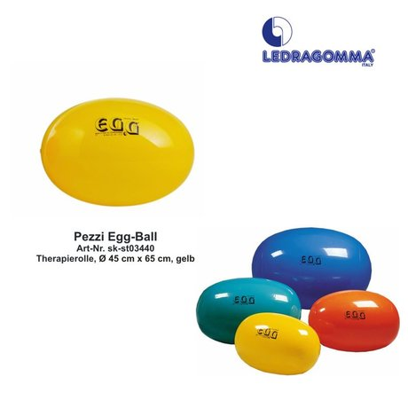 Pezzi EGG-Ball Therapierolle, Ø 45 cm x 65 cm, gelb