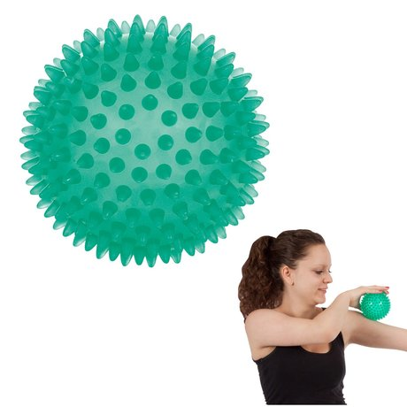Reflex-Ball / Igelball / Massageball, 10 cm grün