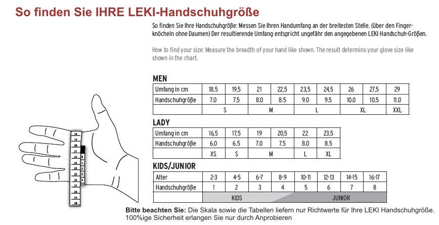 Los Angeles am besten billig schön in der Farbe LEKI Summer Shark Long, black - Nordic Walking Handschuhe ...